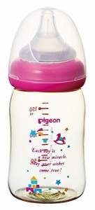 ピジョン Pigeon 母乳実感 哺乳びん プラスチック製 トイボックス柄 160ml 0ヵ月から おっぱい育児を確実にサポートする哺乳びん