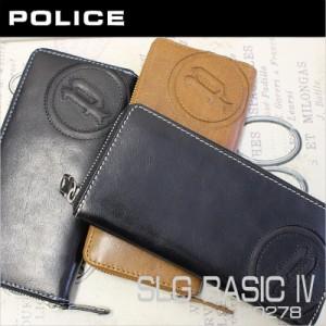 7cdacadfa63f ポリス POLICE ラウンドファスナー長財布 財布 SLG BASIC 4 エスエルジーベーシック4 PA-