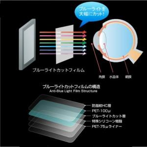 メール便は送料無料/グリーンハウス GH-PDV9J-BK[9インチ] ブルーライトカット 液晶保護フィルム 指紋防止 気泡レス加工