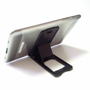メール便送料無料/ASUS ZenPad 3S 10 LTE Z500KL[9.7インチ] 折り畳み タブレットスタンド 黒 と 反射防止 液晶保護フィルム セット