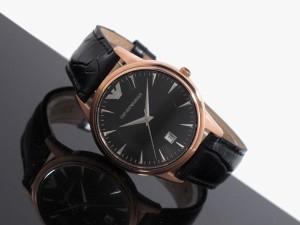 エンポリオ アルマーニ EMPORIO ARMANI 腕時計 AR2444 メンズ デイト ブラックダイアル  並行輸入品 送料無料