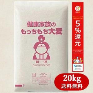 もっちもち大麦 20kg 5kg×4袋 令和元年岡山県産 送料無料の画像