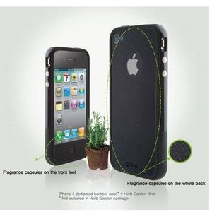 Z262i4★ZENUS(ゼヌス) バーブガーデン ◆iPhone4S / iPhone4 対応◆ 香る液晶指紋防止フィルム ペパーミント