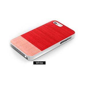 ★iPhone5★iPhone5 Man & Wood Real wood case Harmony Little Peach White I1517i5