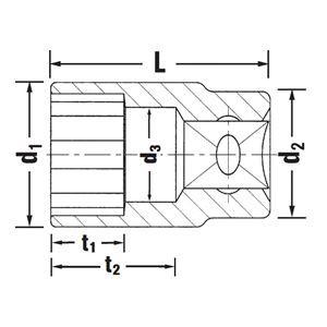STAHLWILLE(スタビレー) 50-34 (1/2SQ)ソケット (12角) (03010034)