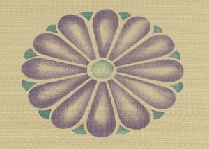 純国産/日本製 友禅捺染 い草御前(仏前)座布団 『正倉院』 約70×70cm
