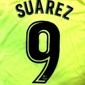 57df9b5ff38006 子供用 K134 19 バルセロナ SUAREZ*9 スアレス 黄色 ゲームシャツ パンツ付 /サッカー