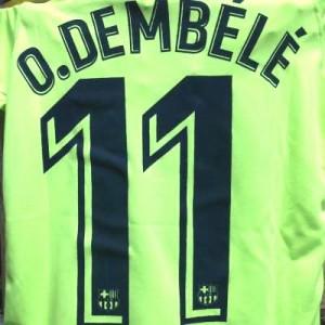 dac3d91492a135 子供用 K134 19 バルセロナ O.DEMBELE*11 ウスマン デンベレ 黄色 ゲームシャツ パンツ