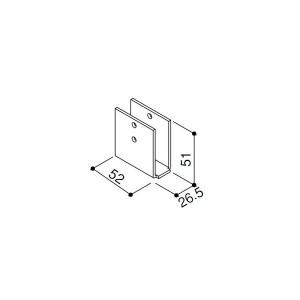 【YKK AP メンテナンス部品】 垂木ブラケット (HHK1-4594)