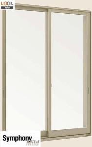 LIXIL 半外付型 窓サッシ 引き違い窓 シンフォニーマイルド 2枚建 呼称  18305【幅1870×高570】
