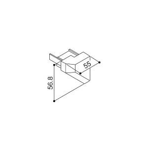 【YKK AP メンテナンス部品】 後枠キャップ (L) (HH2K-30024)