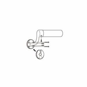 【リフォーム用品】 マツ六 セレクト32横受エンドブラケット 左用 BE−10LG ゴールド