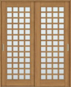 ラシッサS 室内引戸 Vレール方式 引違い2枚建て ASHH-LGS 鍵なし 1620 W:1,644mm × H:2,023mm ノンケーシング /  ケーシング LIXIL