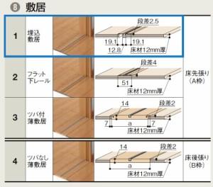 ラシッサS 室内引戸 機能付き引戸 連動方式 片引戸2枚建 ASHRD-LAA 鍵付 1620 W:1,644mm × H:2,023mm ノンケーシング /  ケーシング