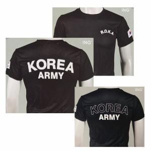 韓国 軍隊 (陸軍) Tシャツ  韓流 グッズ la001-1
