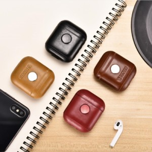 IAP008 iCARER アップル AirPods エアポッズ用 本革 ビンテージレザー 保護ケース ハンドスピナ セットしたまま充電可能 4カラー選択