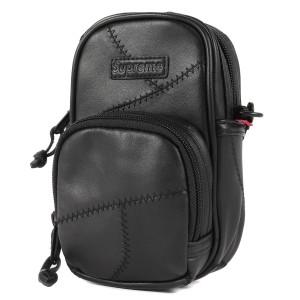 Supreme シュプリーム バッグ パッチワーク レザー ショルダーバッグ Patchwork Leather Small Shoulder Bag 19AW ブラック 【メンズ】【