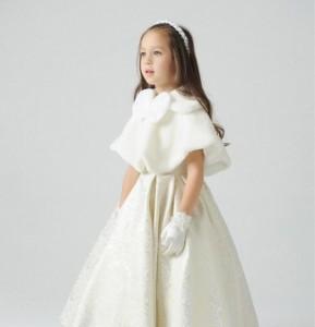 子どもボレロ ファー 長袖 子ども服 マント ボレロ 襟付き 羽織 結婚式 フォーマル 子どもドレス女の子 発表会