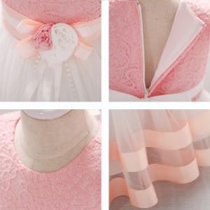 05f88a4a18d97  70-90cm ピンクドレス ベビードレス お花付き子どもドレス キッズ出産祝い 赤ちゃん 結婚式七五三 誕生日 フォーマル ワンピース