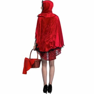 レディースコスチューム 2018赤ずきん  ハロウィン コスチューム衣装 クラブ コスプレ パーティー 仮装 大きいサイズ