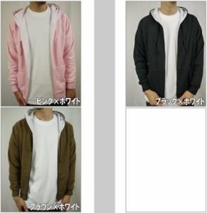 DOUBLE(ダブル)L/S裏地サーマルジップパーカー(5色)【B系/HIPHOP/HOOD/長袖/スウェット】