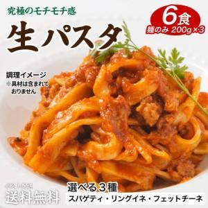 送料無料 選べる 生パスタ 6食セット(麺200g(2食分)×3) 【ご希望の発送日・種類をお選びください】お試しセール 期間限定 食品 福袋 通