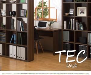 TEC テック デスク 奥行54.8cm (PCデスク 作業机 勉強机 ナチュラル ブラウン 北欧 おすすめ おしゃれ)