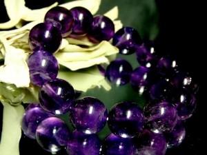 天然アメジスト14ミリ数珠【天然石】【ブレスレット】【パワーブレス】【数珠】【パワーストーン】【男性用】【女性用】