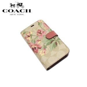 8e6583e958 コーチ iPhoneケース 手帳型 レディース メンズ COACH アイフォン スマホケース シグネチャー 花柄 F73698 OUV 送料
