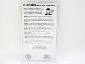 強力催涙スプレー「エリミネーター」クイックドロー 1/2オンス アメリカ製