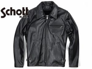 ショット SCHOTT 643 当店別注 襟付き シングルライダース ブラック MADE IN USA(米国製 レザージャケット ト