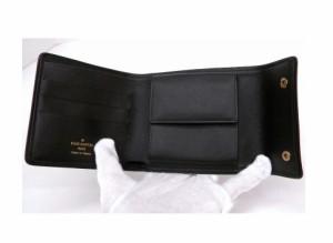 ルイ・ヴィトン サイフ M92440 モノグラム・ミニ カーキ 三つ折りコンパクト【中古】(11876)