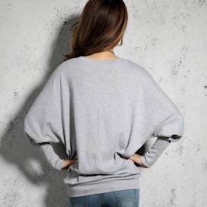 ゆるtシャツ 長袖tシャツ レディース ドルマンスリーブ ビッグシルエット 無地tシャツ クルーネックtシャツ シンプル カジュ