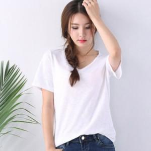 無地tシャツ レディース カジュアルTシャツ 半袖Tシャツ クルーネックTシャツ カットソー シンプル ベーシックtシャツ サマー
