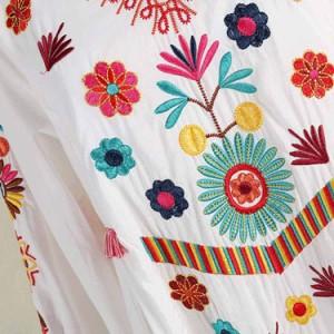697a1bd5ccfaa 柔らかで優しげな雰囲気♪エスニック風刺繍ワンピース ワンピース 刺繍 エスニックワンピース 刺繍. mcaa0198