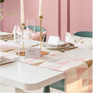 テーブルランナー ピンク 北欧ノルディック テーブルマット ダイニング