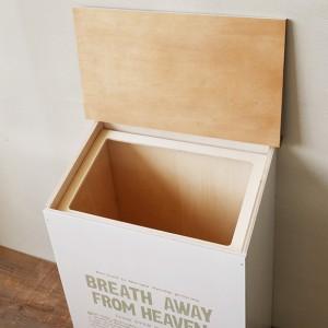 【BREA】【30L ふた付き ダストボックス こげ茶の屋根】ゴミ箱/木製/日本製