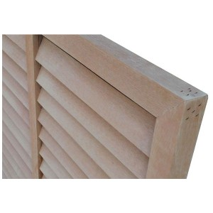 アイウッド人工木 ルーバーラティスH120cm×W60cmナチュラルアイウッド人工木製 フェンス ラティス 目隠しフェンス バルコニー