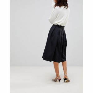 エイソス レディース スカート ブラック ASOS DESIGN midi prom skirt in scuba(1197394)