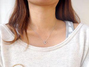 プラチナ ネックレス ダイヤモンド オープンハート アクアマリン 3月誕生石 チェーン 人気 ダイヤ レディース 女性用