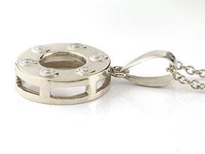 ネックレス 誕生石 ペアネックレス ペアペンダント ダイヤモンド ペンダント ピンクゴールドk18 ホワイトゴールドk18 18金 ダイヤ カップ