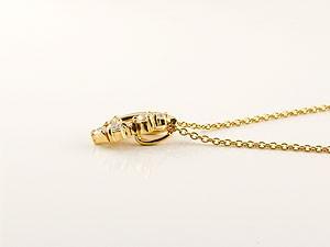 ネックレス ダイヤモンドネックレス ダイヤモンド ペンダント イエローゴールドk18 18金 ダイヤ レディース チェーン 人気 女性用