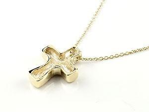 ネックレス ペアネックレス ペアペンダント ハワイアンジュエリー クロス ゴールドk18 ペンダント 十字架 地金 チェーン 人気 18金