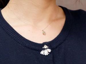 ネックレス ペリドット ホワイトゴールドk18 ペンダント ダイヤモンド ティアドロップ チェーン 人気 8月誕生石 18金