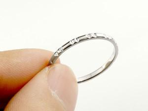 指輪 プラチナリング ピンキーリング pt900 極細 華奢 ストレート