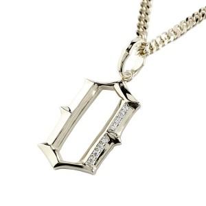 ネックレス 喜平用 メンズ キヘイ メンズ ダイヤモンド ペンダント 数字 0 ナンバー シルバー925 地金 sv 男性  コントラッド