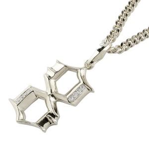 ネックレス 喜平用 メンズ キヘイ メンズ ダイヤモンド ペンダント 数字 8 ナンバー シルバー925 地金 sv 男性  コントラッド