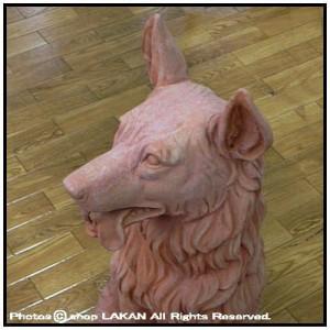 牧羊犬H65cmテラコッタ製動物オブジェ/トスカーナ [VT680015]