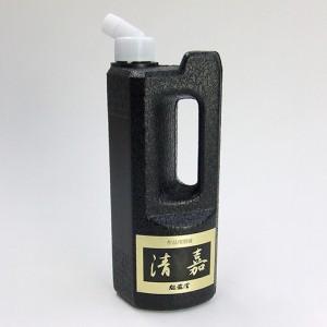 作品用墨液 清嘉 500ml 【魁盛堂製 墨汁 墨液 液体墨 書道用品】