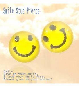 シルバーピアス Smileすまいる にこにこニコちゃんの可愛いスマイルピアス B170 B 5 7スタッドピアス レディースピアスau Wowmaワウマ